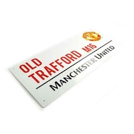 OLD TRAFFORD street sign med MANCHESTER UNITED logo i metal