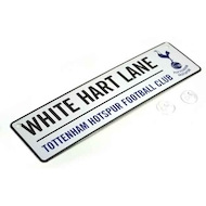 WHITE HART LANE street sign med 3D TOTTENHAM logo i metal